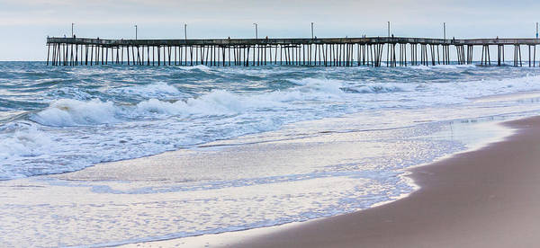 Photograph - Virginia Beach Pier In The Morning by Karen Saunders