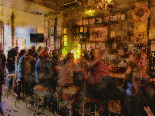 Photograph - Virginia City Bar by Gary De Capua