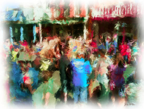 Photograph - Virginia City Crowd Impressionisti by Gary De Capua