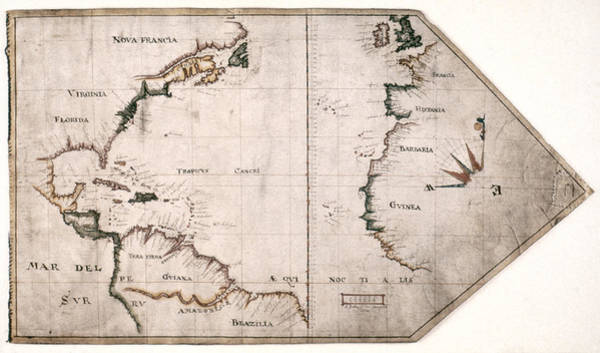 Wall Art - Painting - Virginia Company Map, C1607 by Granger