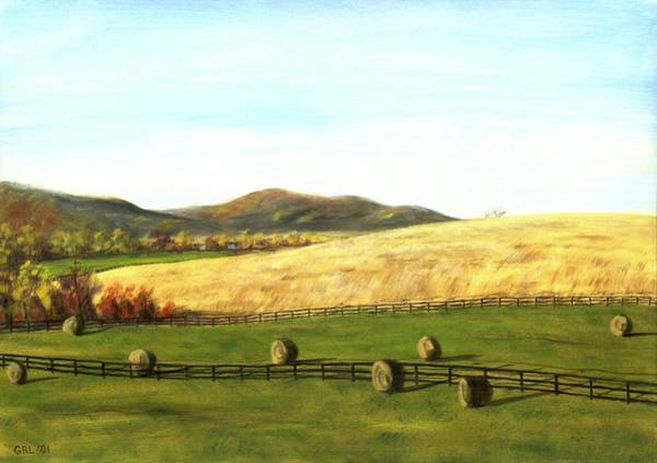 Painting - Virginia Countryside Autumn South Of Leesburg by G Linsenmayer