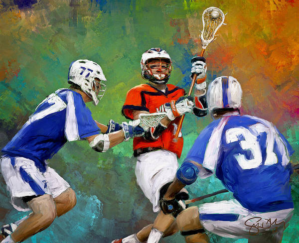 Lax Painting - College Lacrosse 3 by Scott Melby