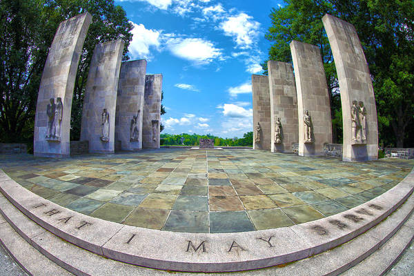 Virginia Photograph - Virginia Tech War Memorial by Mitch Cat