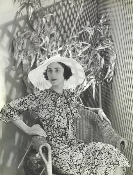 Wall Art - Photograph - Virginia Thaw In A J Suzanne Talbot Hat by George Hoyningen-Huene