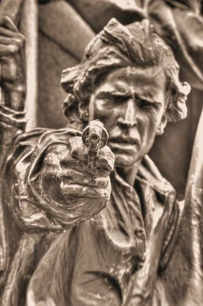 Wall Art - Photograph - Virginia To Her Sons At Gettysburg - War Fighters - Taking Dead Aim A1 by Michael Mazaika