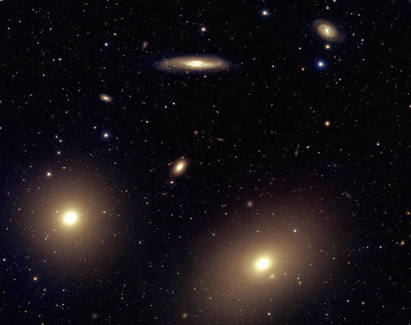 Canada-france-hawaii Telescope Wall Art - Photograph - Virgo Cluster Galaxies by J-c Cuillandre/canada-france-hawaii Telescope/science Photo Library