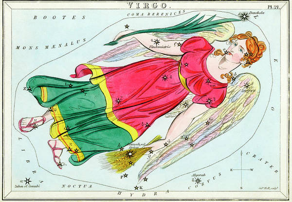 Mythological Photograph - Virgo Constellation by Royal Astronomical Society/science Photo Library