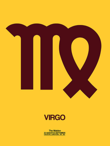 Taurus Digital Art - Virgo Zodiac Sign Brown by Naxart Studio