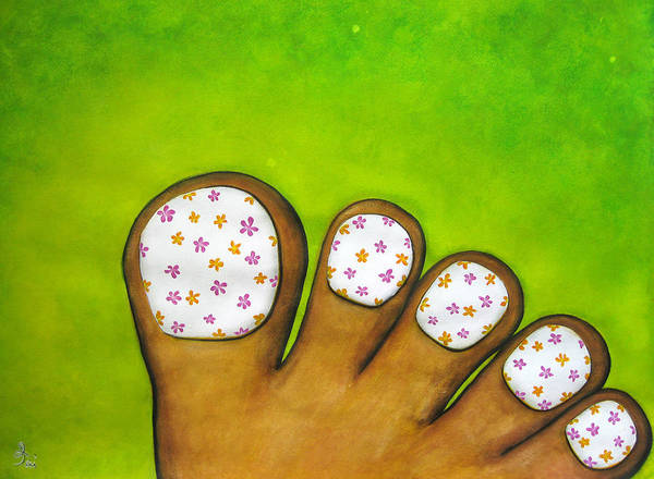 Painting - Virtual Pedicure by Oiyee At Oystudio