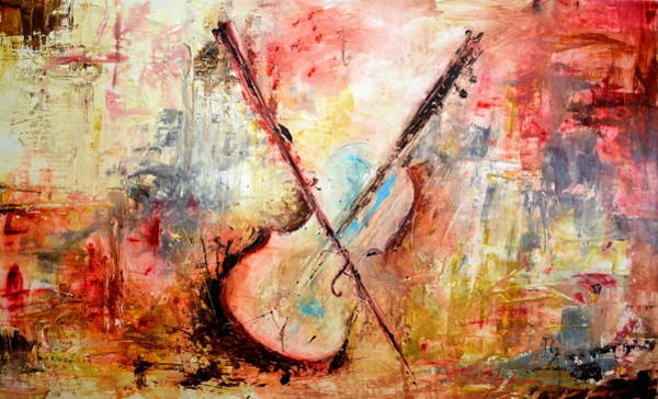 Sax Painting - Virtuoso Solo by Ivan Guaderrama