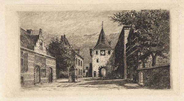 Water Pump Drawing - Vischpoort Elburg, Elias Stark by Elias Stark