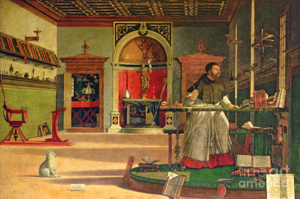 Voices Painting - Vision Of St. Augustine by Vittore Carpaccio