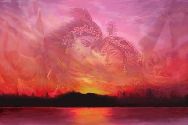 Painting - Vision Over The Yamuna by Vishnudas Art