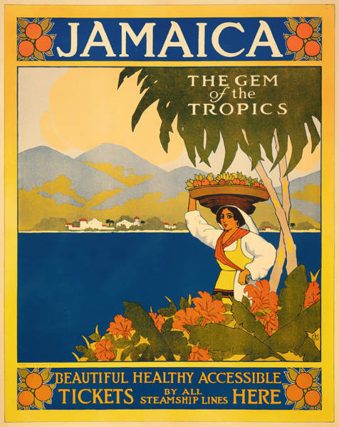 Brochure Drawing - Visit Jamaica by Mountain Dreams