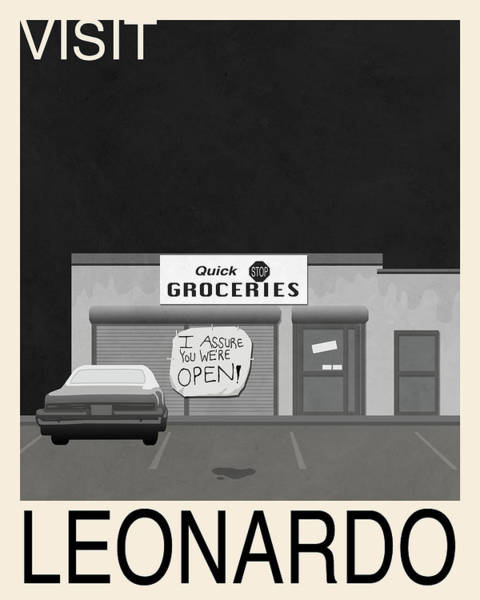 Quick Digital Art - Visit Leonardo Travel Poster - Clerks by Finlay McNevin