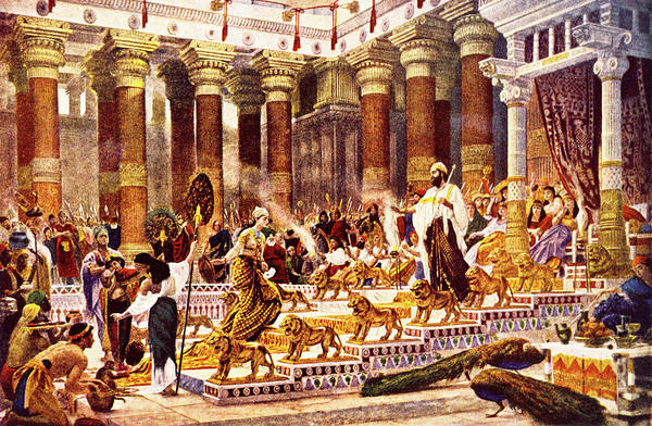Excitement Painting - Visit Of Queen Of Sheba To King Solomon by Vintage Images