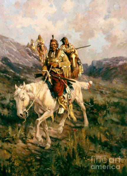 Visit Wall Art - Painting - Visit To Another Tribe by Edgar Samuel Paxson