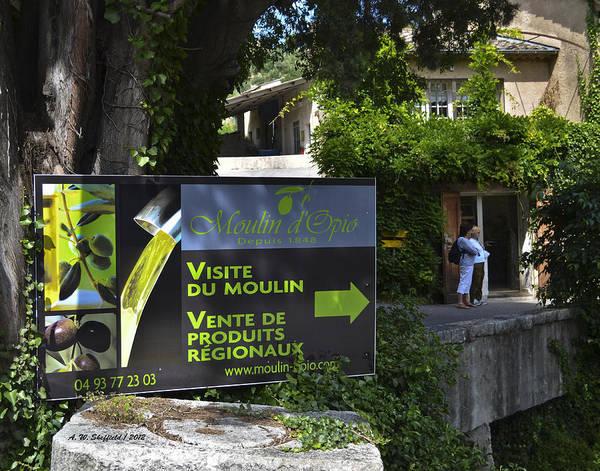 Chateauneuf Photograph - Visite Du Moulin by Allen Sheffield