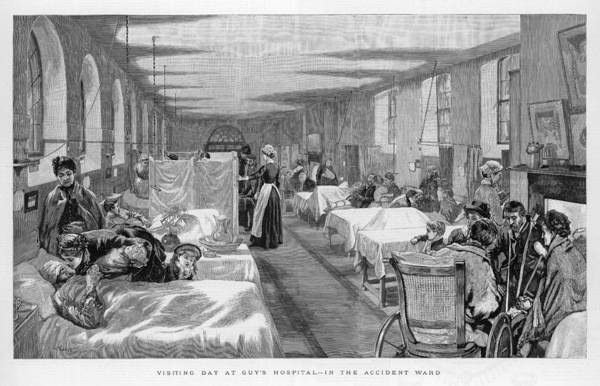 Wall Art - Drawing - Visiting Day In The Accident  Ward by  Illustrated London News Ltd/Mar