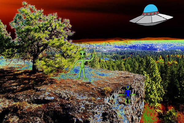 Photograph - Visiting Rimrock In Spokane by Ben Upham III