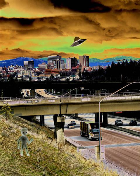 Photograph - Visiting Spokane by Ben Upham III