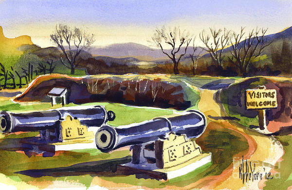 Painting - Visitors Welcome At Fort Davidson by Kip DeVore