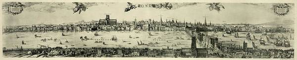 Swan Boats Photograph - Visscher's View Of London by Library Of Congress/science Photo Library