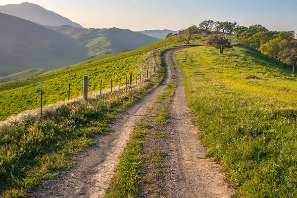 East County Photograph - Vista Grande Trail And Mt Diablo by Marc Crumpler