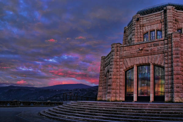 Photograph - Vista House Sunset by Wes and Dotty Weber