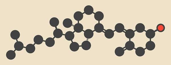 Vitamin Photograph - Vitamin D3 Molecule by Molekuul
