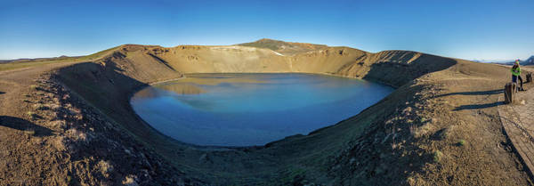 Crevice Photograph - Viti, A Huge Explosion Crater, Northern by Panoramic Images