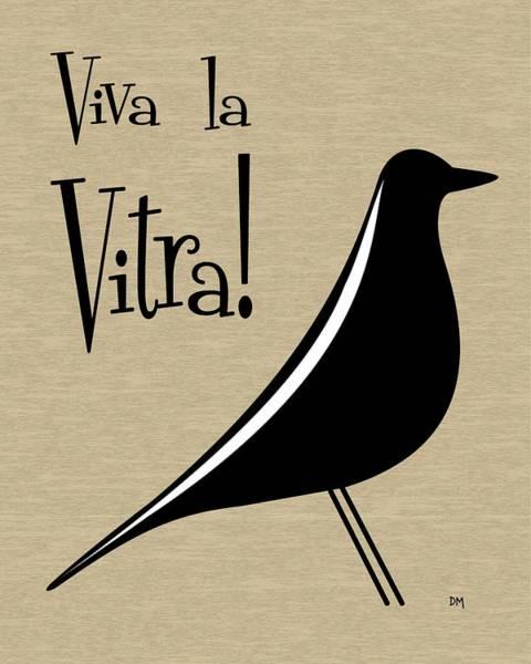 Digital Art - Vitra Bird On Brown by Donna Mibus