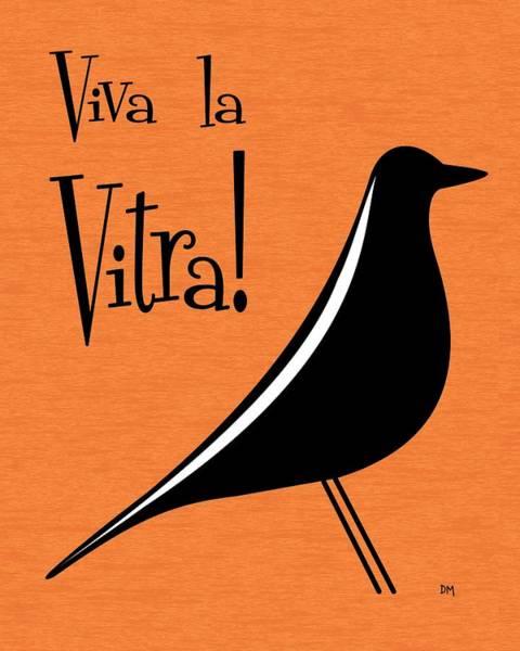 Digital Art - Vitra Bird On Orange by Donna Mibus
