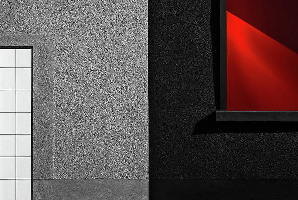 Selective Color Photograph - Vitrina Red Black by Gilbert Claes