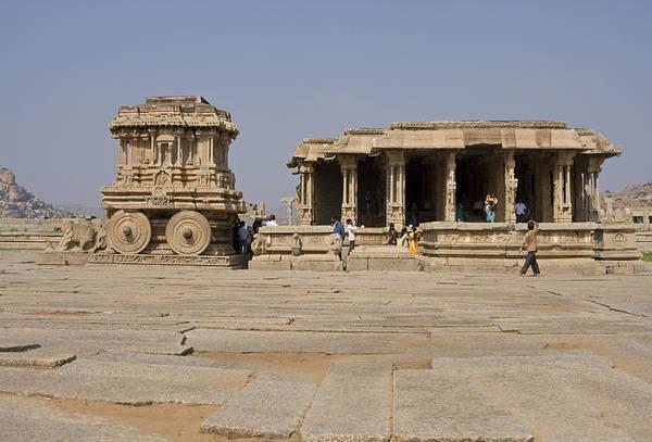 Photograph - Vitthala Tempel by Maria Heyens