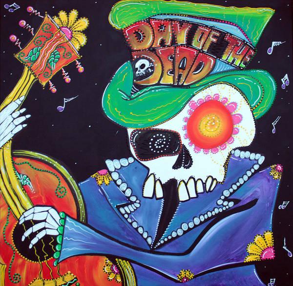 Wall Art - Painting - Viva La Muerte by Laura Barbosa