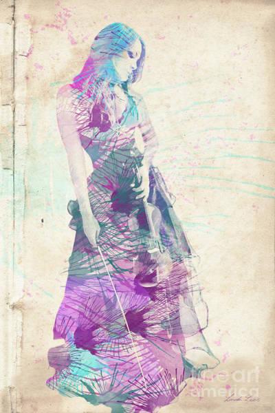 Violinist Wall Art - Digital Art - Viva La Vida by Linda Lees