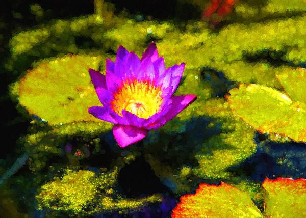 Digital Art - Vivacious Waterlily Impression by Georgia Mizuleva
