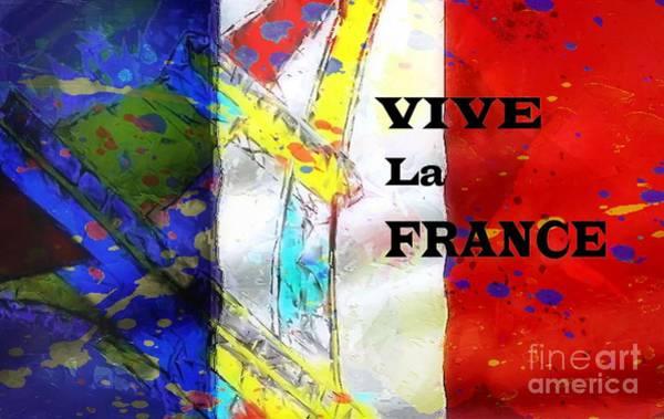 Vive La France Wall Art - Digital Art - Vive La France by Brian Raggatt