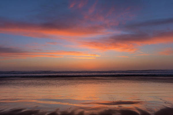 Montana De Oro State Park Photograph - Vivid Sunset Over The Pacific Ocean by Chuck Haney