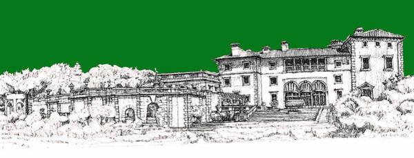 Vizcaya Museum And Gardens In Pine Green Art Print