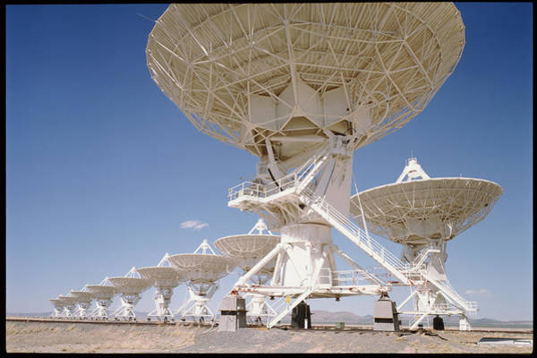 Very Large Array Photograph - Vla Radio Telescope by Tony Craddock/science Photo Library