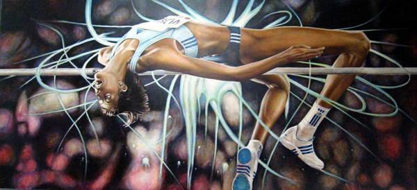 High Jump Painting - Vlasic Levitas by Matt Holton