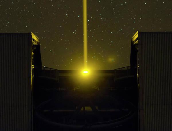 Optics Photograph - Vlt And Laser Guide Under Stars by Babak Tafreshi