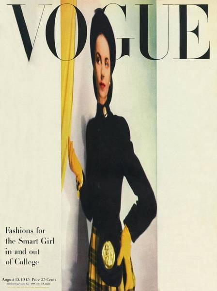 1945 Photograph - Vogue Cover Featuring A Distorted Image by Erwin Blumenfeld