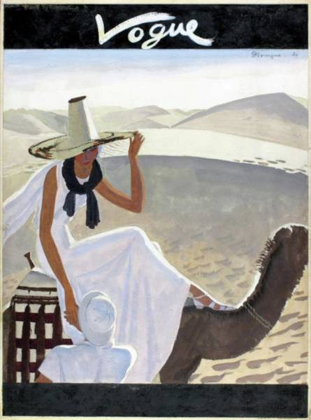 Vogue Cover Featuring A Woman Riding A Camel Art Print