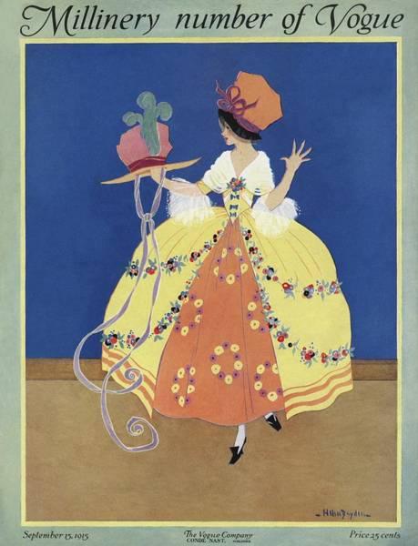 Top Hat Photograph - Vogue Cover Featuring An Eighteenth Century Woman by Helen Dryden