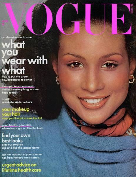American Beauty Photograph - Vogue Cover Featuring Beverly Johnson by Francesco Scavullo