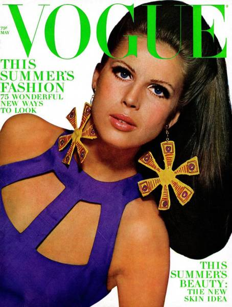 People Photograph - Vogue Cover Featuring Birgitta Af Klercker by Bert Stern