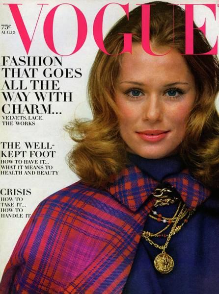 Metallic Photograph - Vogue Cover Featuring Lauren Hutton by Gianni Penati